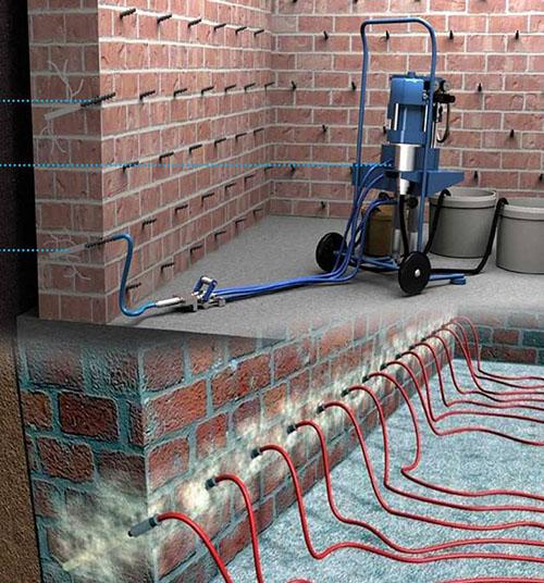 Инъектирование кирпичной кладки цементным раствором заказ бетона в ногинске